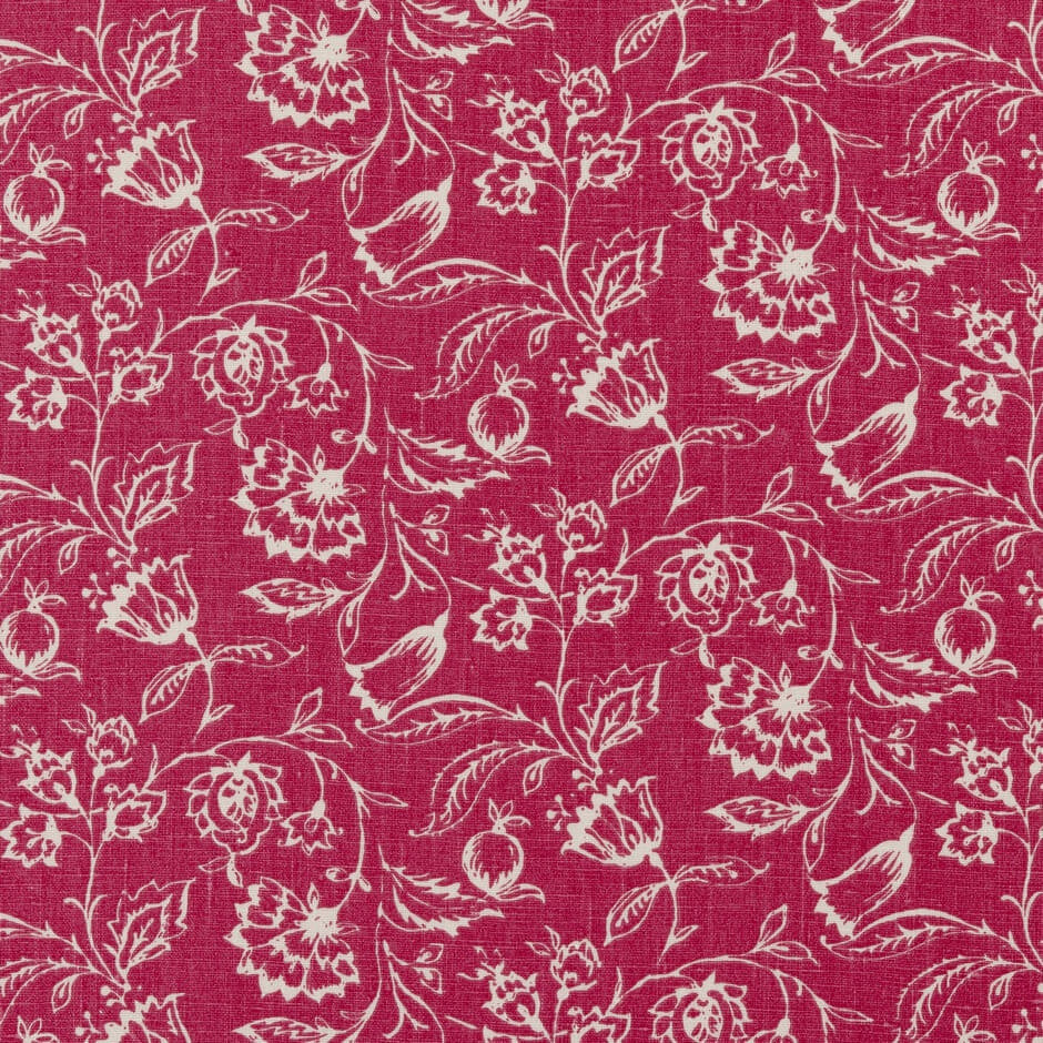 Clarke & Clarke Marie - Raspberry Fabrics - Decor Rooms - 1