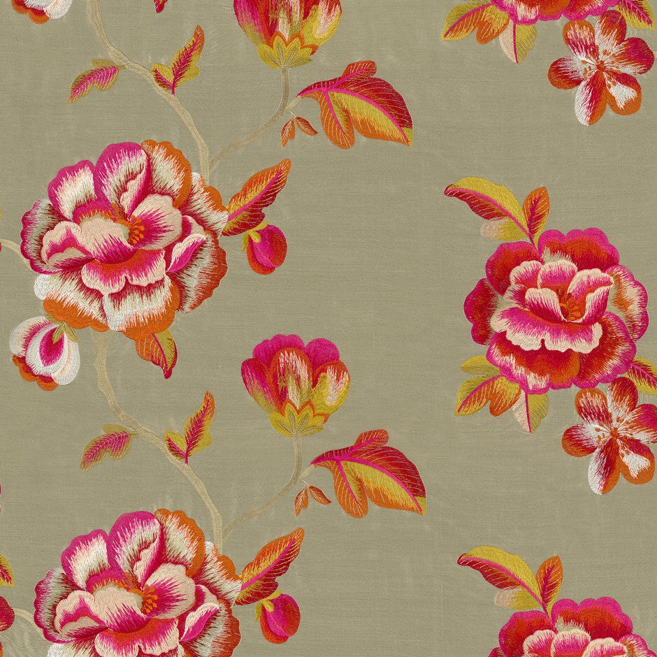Casamance Haru - Beige/Orange Fabric  35720465 Fabrics - Decor Rooms