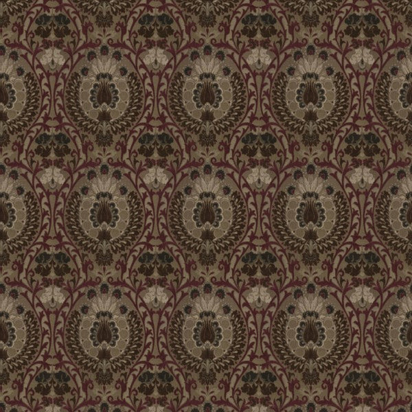 Isfahan Damson Fabric by Jim Dickens at Decor Rooms