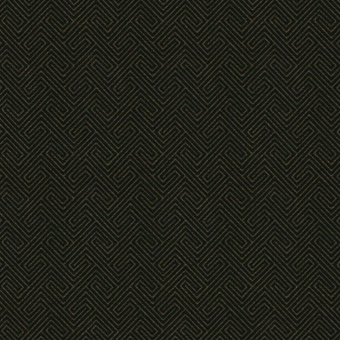 Hudson Black Gold Fabric by Jim Dickens | Decor Rooms