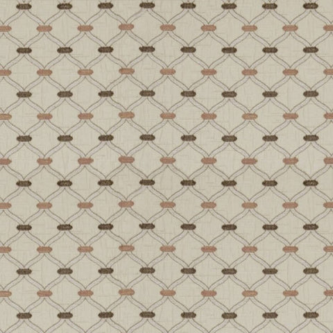 Agra Dusky Rose Fabric by Jim Dickens at Decor Rooms