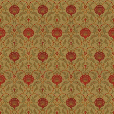 Ottoman Apple Red Fabric by Jim Dickens at Decor Rooms