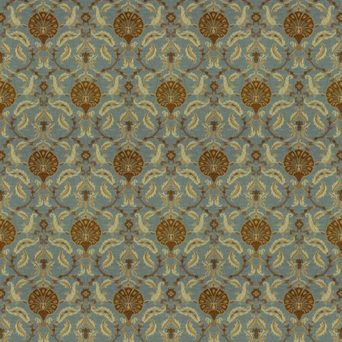 Ottoman Blue Walnut Fabric by Jim Dickens at Decor Rooms