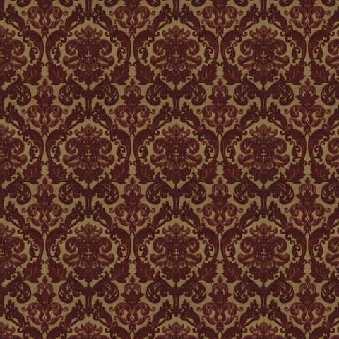Hamilton Berry Red Fabric by Jim Dickens at Decor Rooms