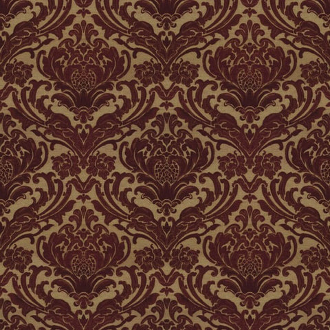 Sheridan Berry Red Fabric by Jim Dickens at Decor Rooms