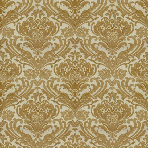 Sheridan Gold Fabric by Jim Dickens at Decor Rooms