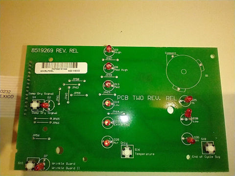 Dryer Control Board (PCB 2) 8519269 - Use It Again Parts