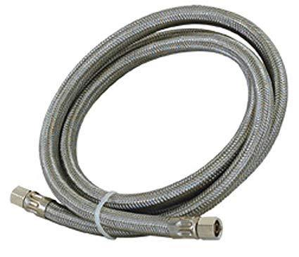 Eastman 1/4 comp Braided Stainless Water Line 10' 48389 - Use It Again Appliance Parts