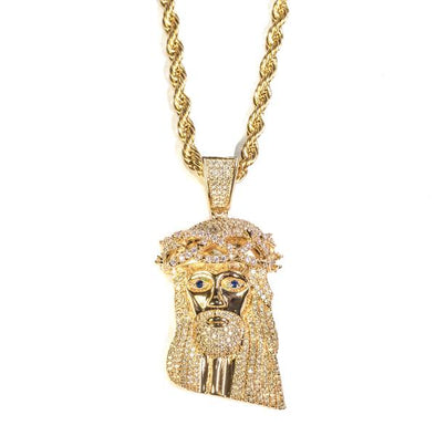 Golden Gilt XL Icey Gold Jesus