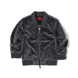 Haus Of Jr ASA Velour Bomber (Stone)