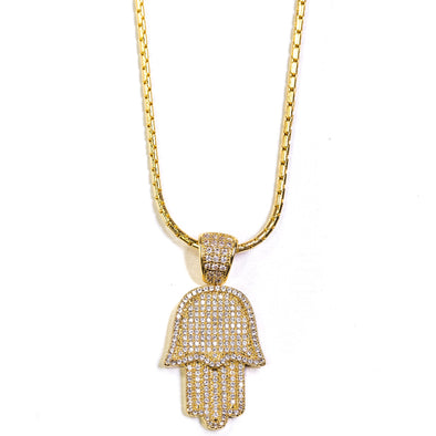 Golden Gilt Hamsa Hand Chain