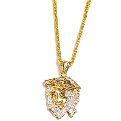 Golden Gilt Ghost Jesus Piece Chain