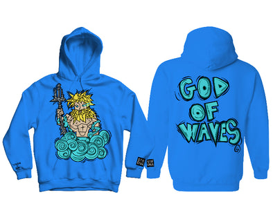 "STRONG X 5AM ROSA ""GOD OF WAVES"" HOODY (ROYAL BLUE)"