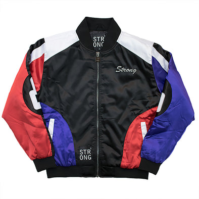 Strong 8 Baller Jacket (Black/Blue/Red)