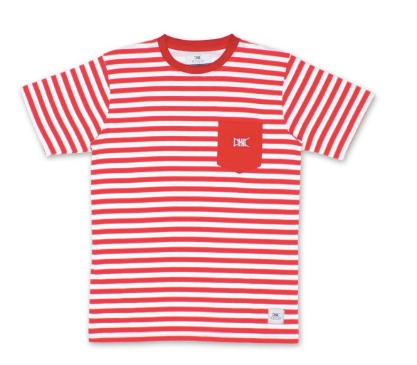 Ethik OG Stripe Tee (Red)