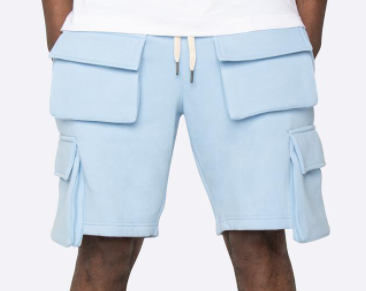 EPTM Fleece Cargo Shorts (Baby Blue)
