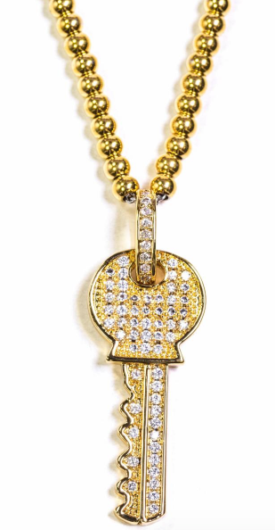 Golden Gilt Key Pendant