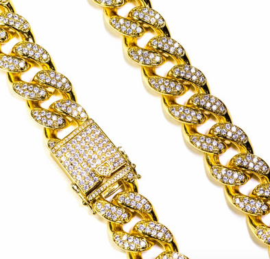 Golden Gilt Studded Cuban Link