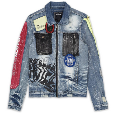 Reason Lion Face Denim Jacket