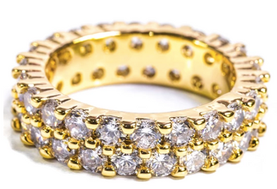 Golden Gilt Eternity Ring - 18K Gold Plated