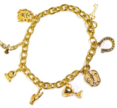 Golden Gilt Lucky Charm Bracelet