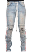 Eptm Splatter Taped Denim