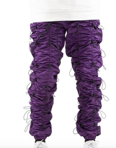 Eptm Accordian Pants (Purple/Black)