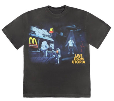 Travis Scott X McDonald's Live From Utopia Tee
