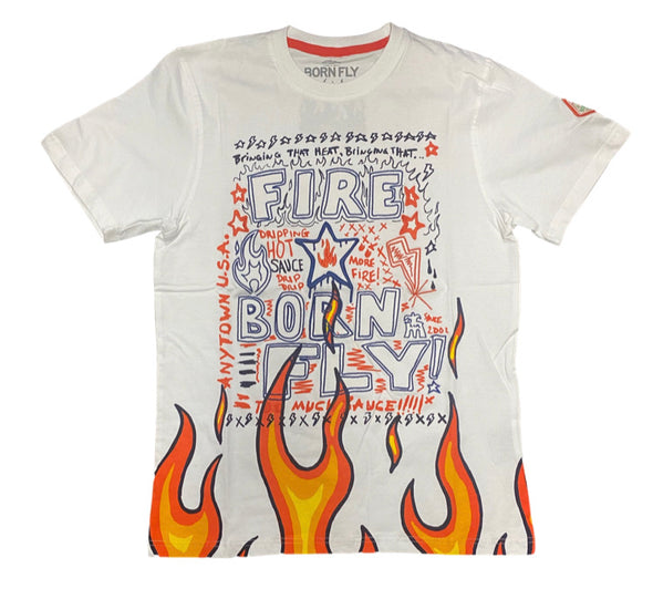 Born fly flame Tee