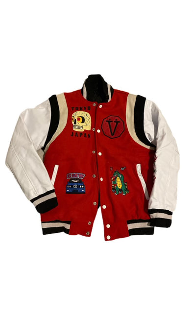 Villain Collection Varsity Jacket (Red/White)