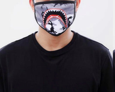 Eternity Shark Mouth Face Mask (White Camo)