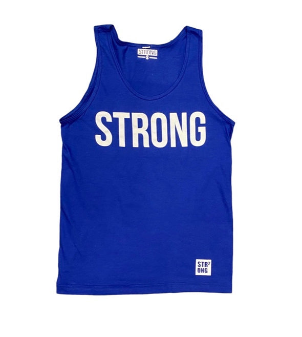 Strong Print Tank Top(Blue)
