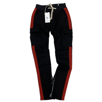 Ckel Striped Cargo Pants (Blk/Red)
