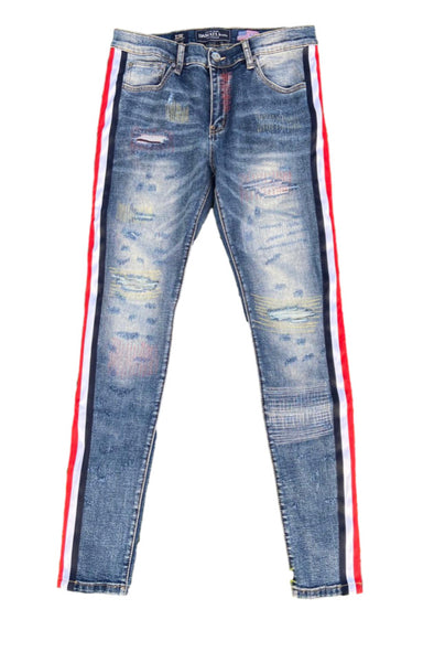 Damati Turin Blue Denim (Multi Stripe)