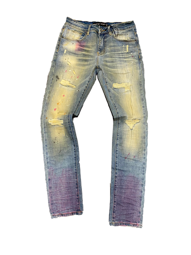 Foreign Local Splatter Sand Wash Distressed Denim