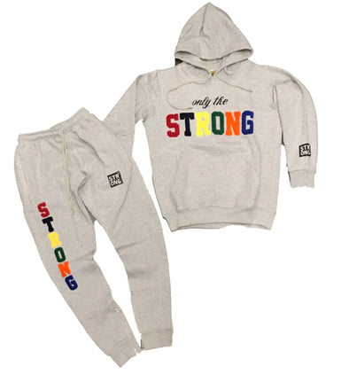 "STRONG ""ONLY THE STRONG"" SWEATSUIT SET (GREY)"