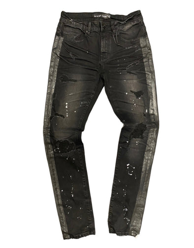 Foreign Local Double Black Splatter Denim