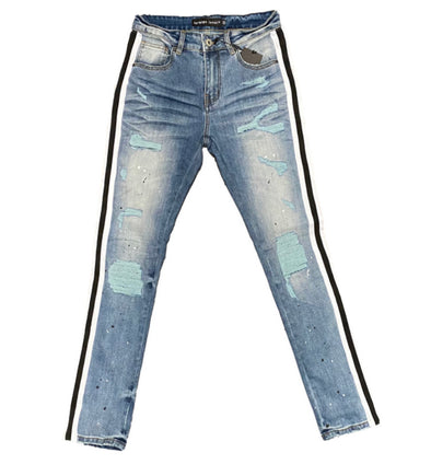 Foreign Local Strip Denim (Blk/White)