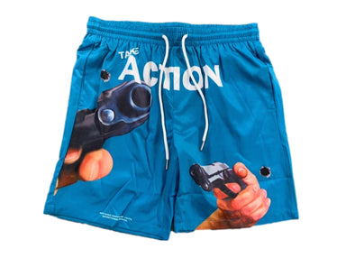 "Undx ""Take Action Shooter"" Shorts (Blue)"