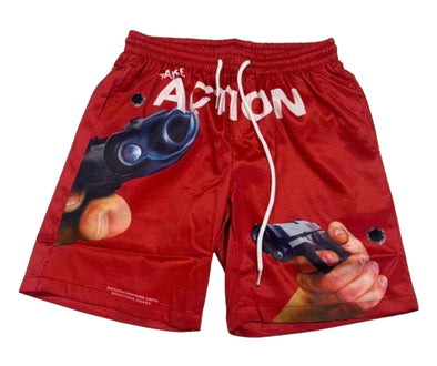 "Undx ""Take Action Shooter"" Shorts (Red)"
