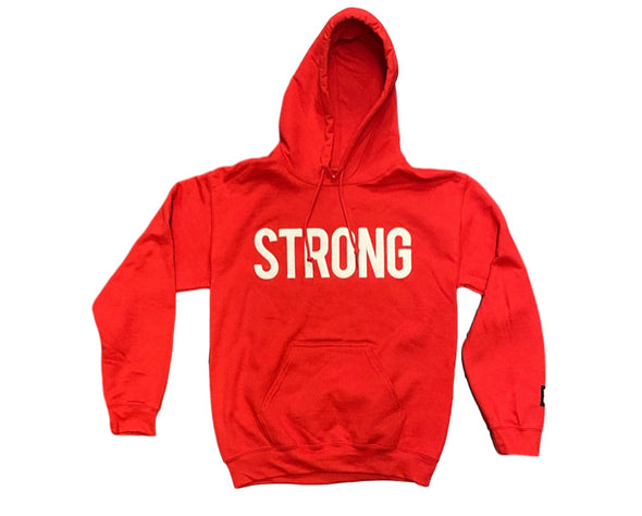 STRONG 3D PUFF LOGO HOODY  (RED)
