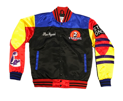 Strong Flex Squad Satin Varsity Jacket V2