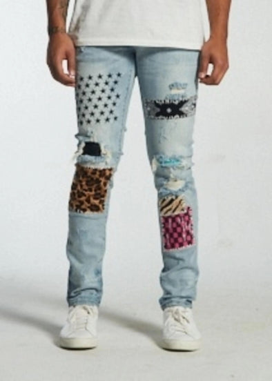 Embellish Summit Patch Work Denim