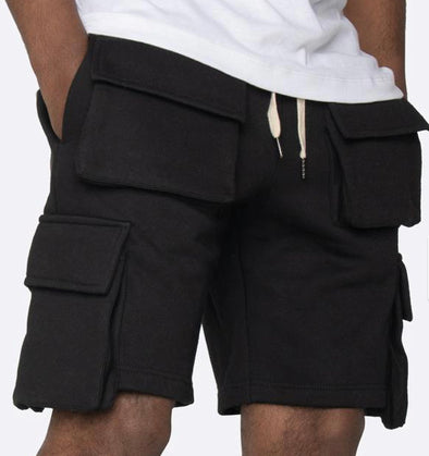 EPTM FLEECE CARGO SHORTS (BLK)