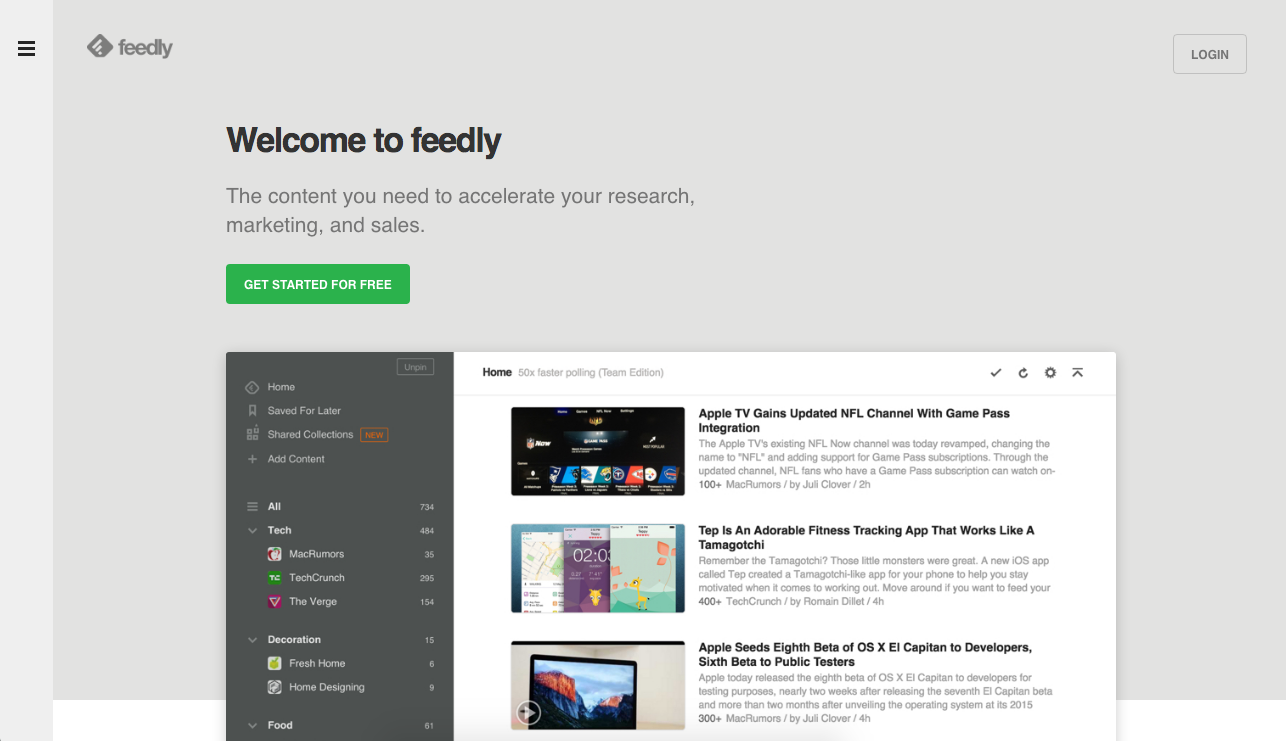 Feedly Site