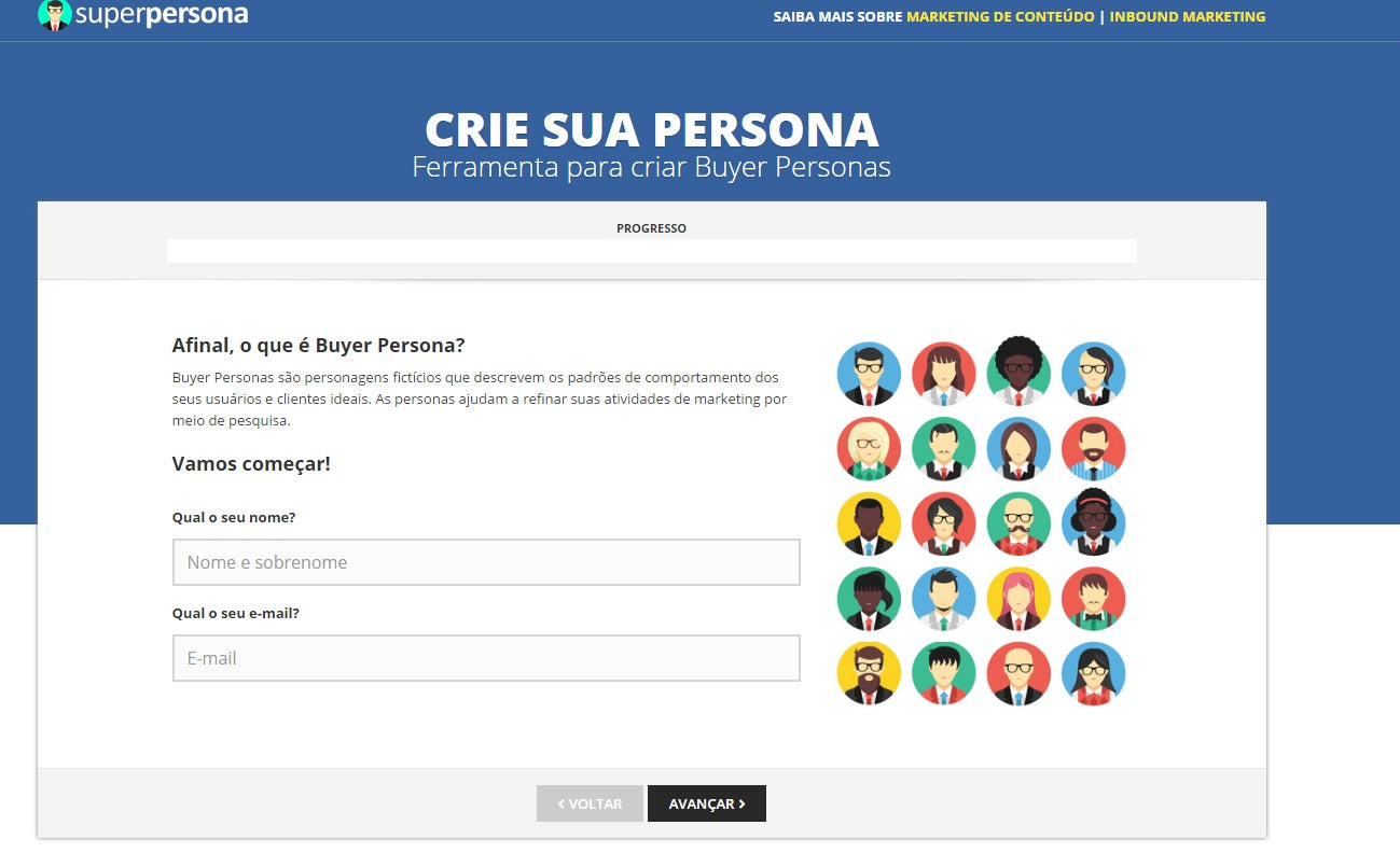 Criador de Personas do Superpersona