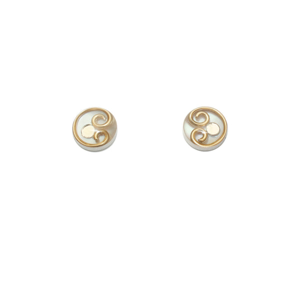 10mm Brass Mother of Pearl Studs