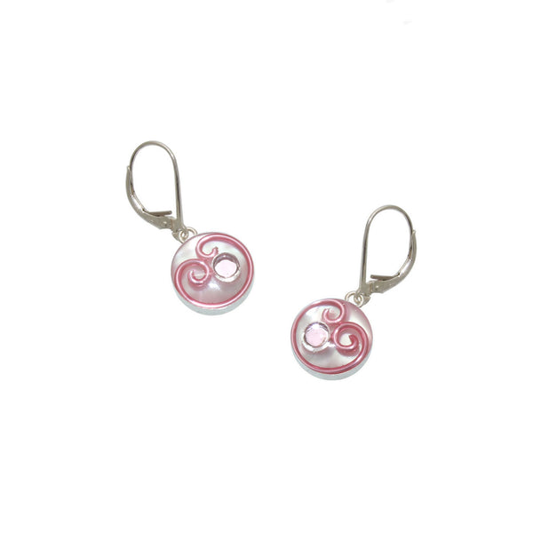 Begonia Mother of Pearl Earrings