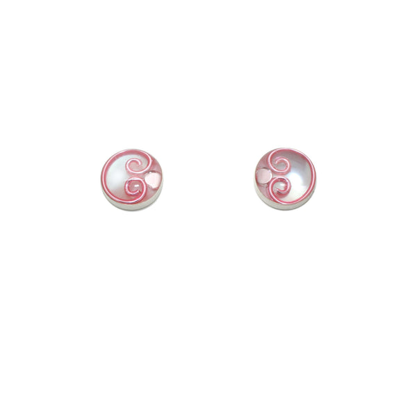 10mm Pink Mother of Pearl Studs