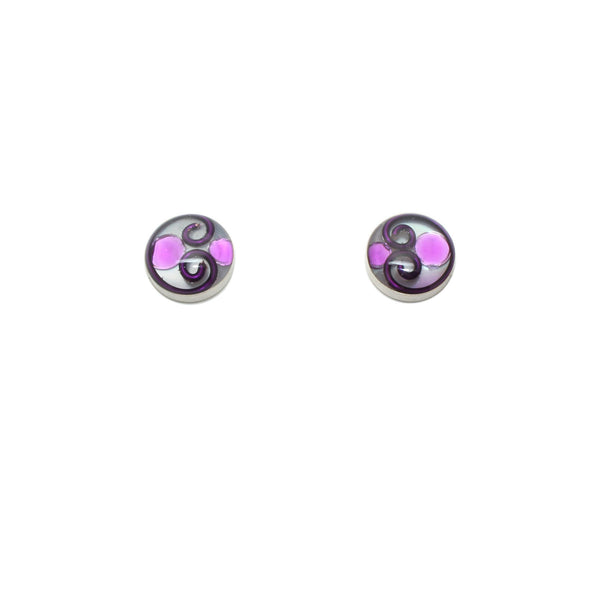 10mm Purple Mother of Pearl Studs